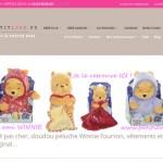 Peluches Disney : doudou Winnie l'ourson joli cadeau bébé