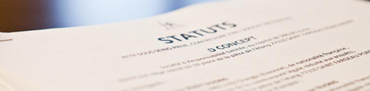 redaction statut creation de sci